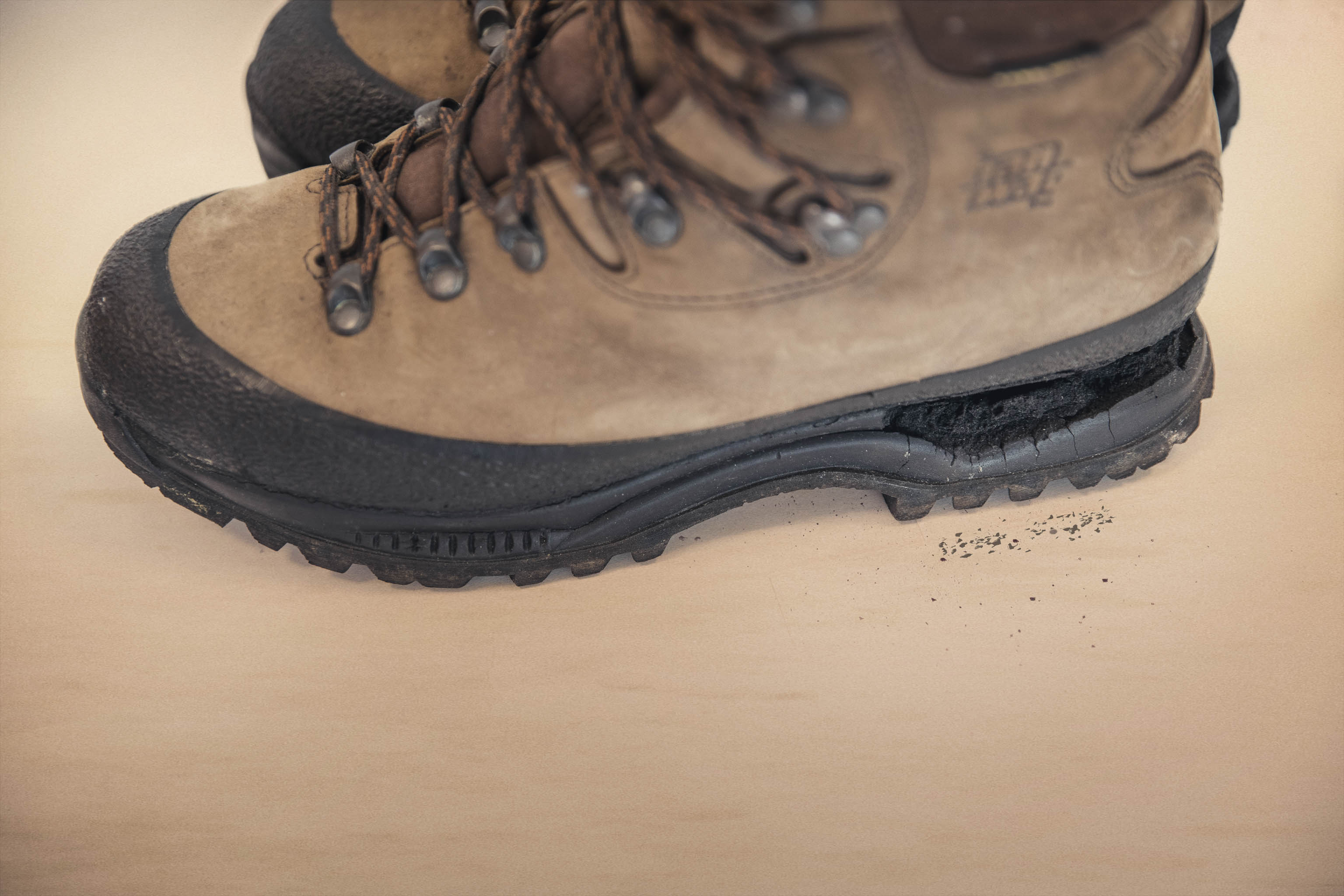 HANWAG Hiking boot sole separation