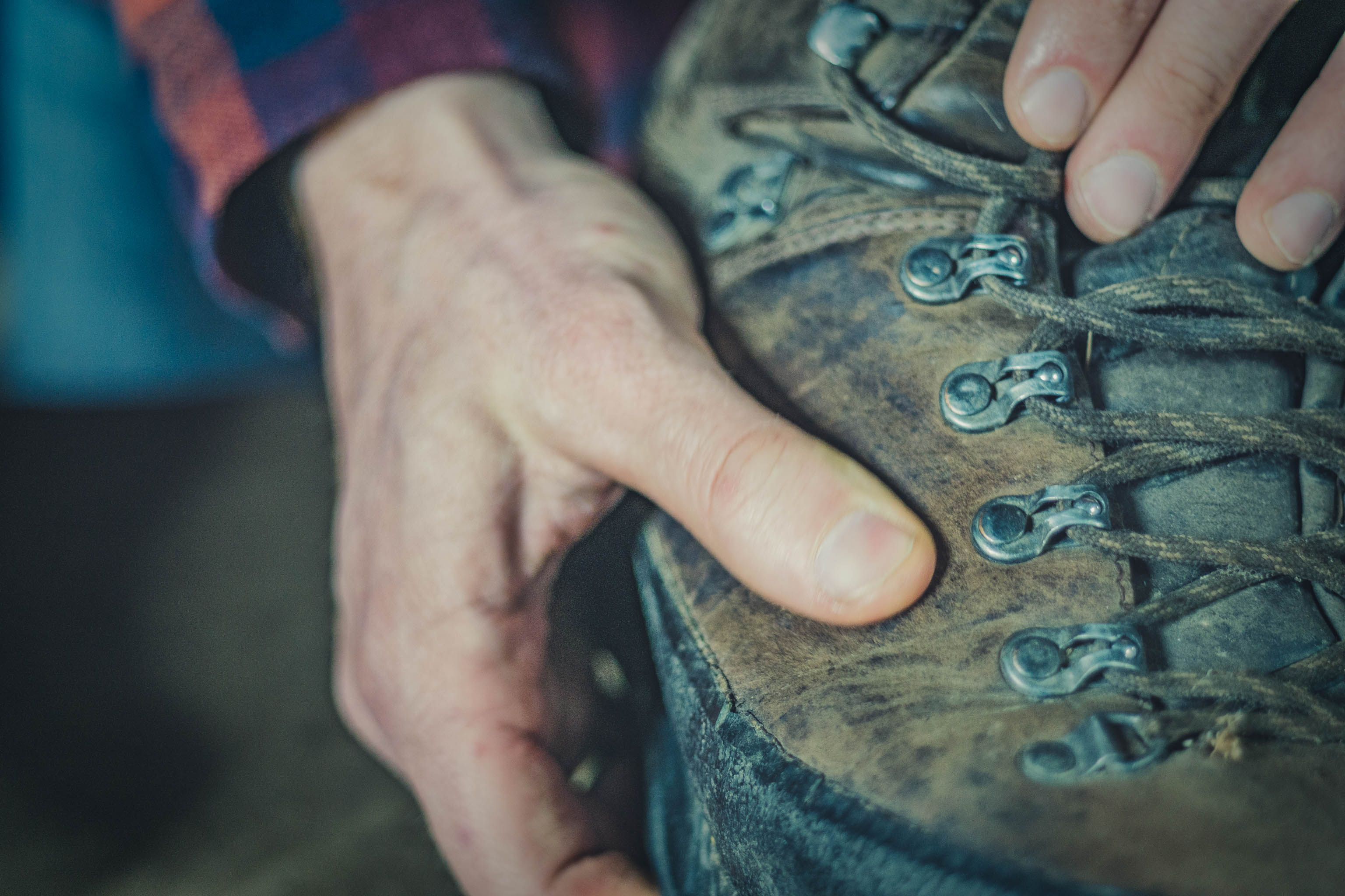 HANWAG Schuhpflege Wanderschuhe wachsen Leder