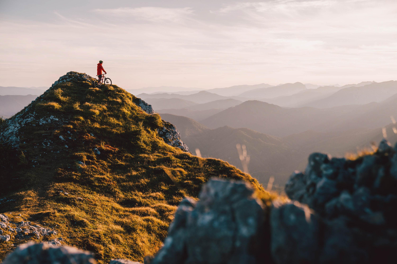 Mountain bike, sunset, mountains, best mountain photos, alps