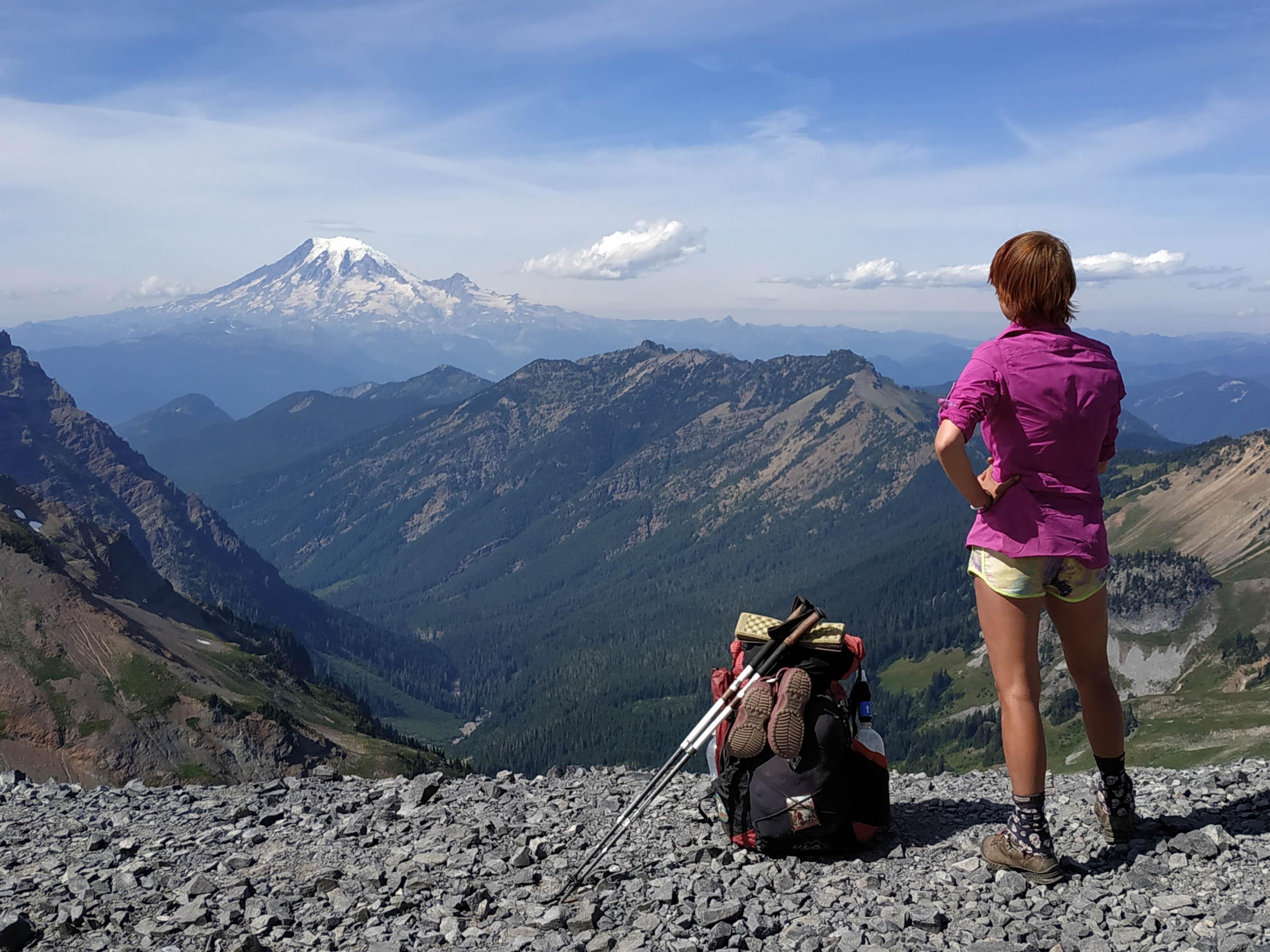 Looking at Mount Rainier