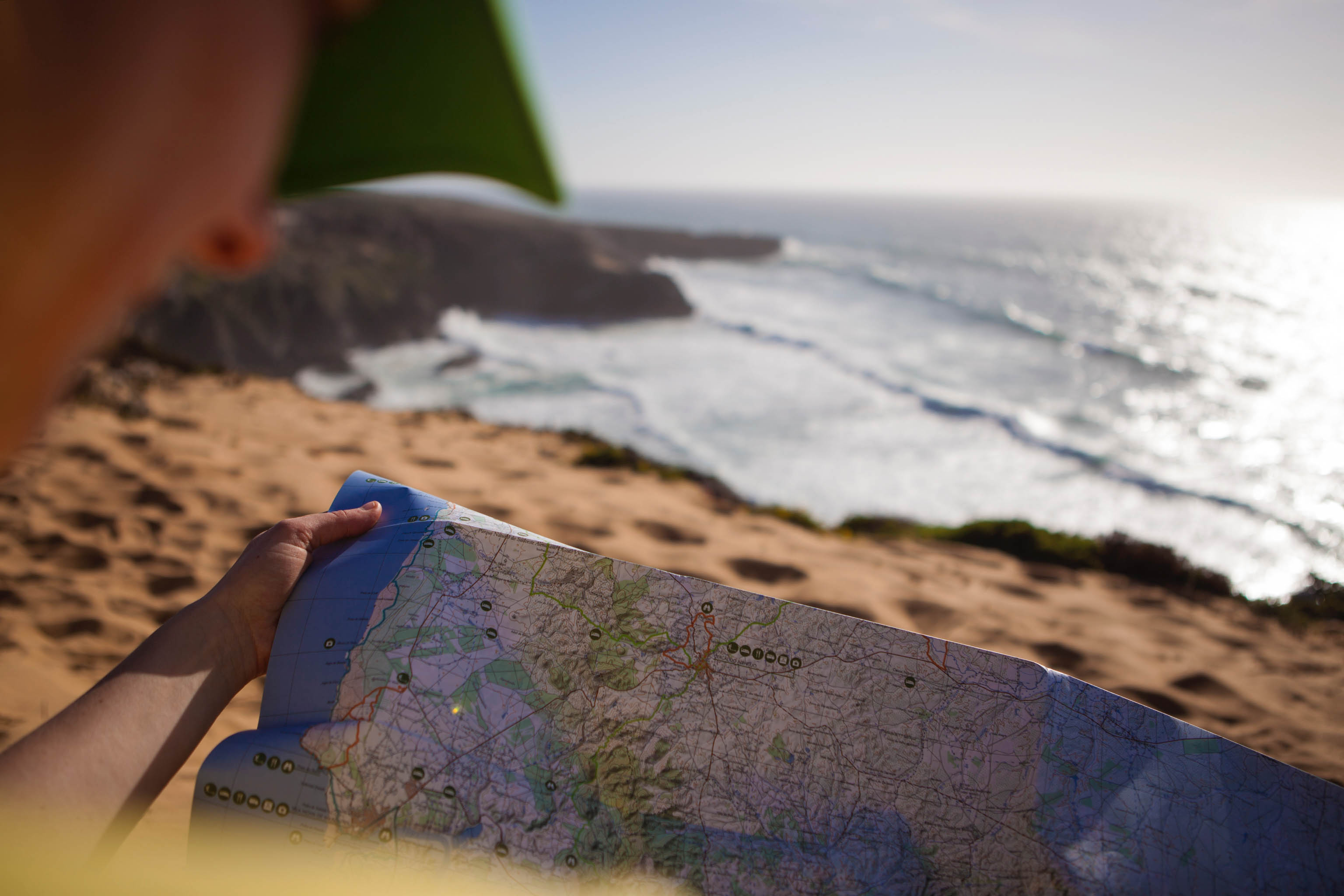 Rota Vicentina map: Fisherman's trail Portugal