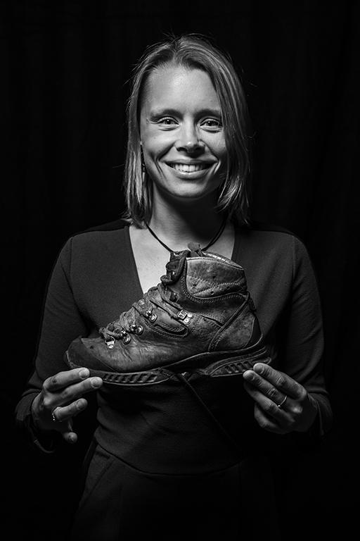 Sanna Wandtke with PCT hike Tatra boot