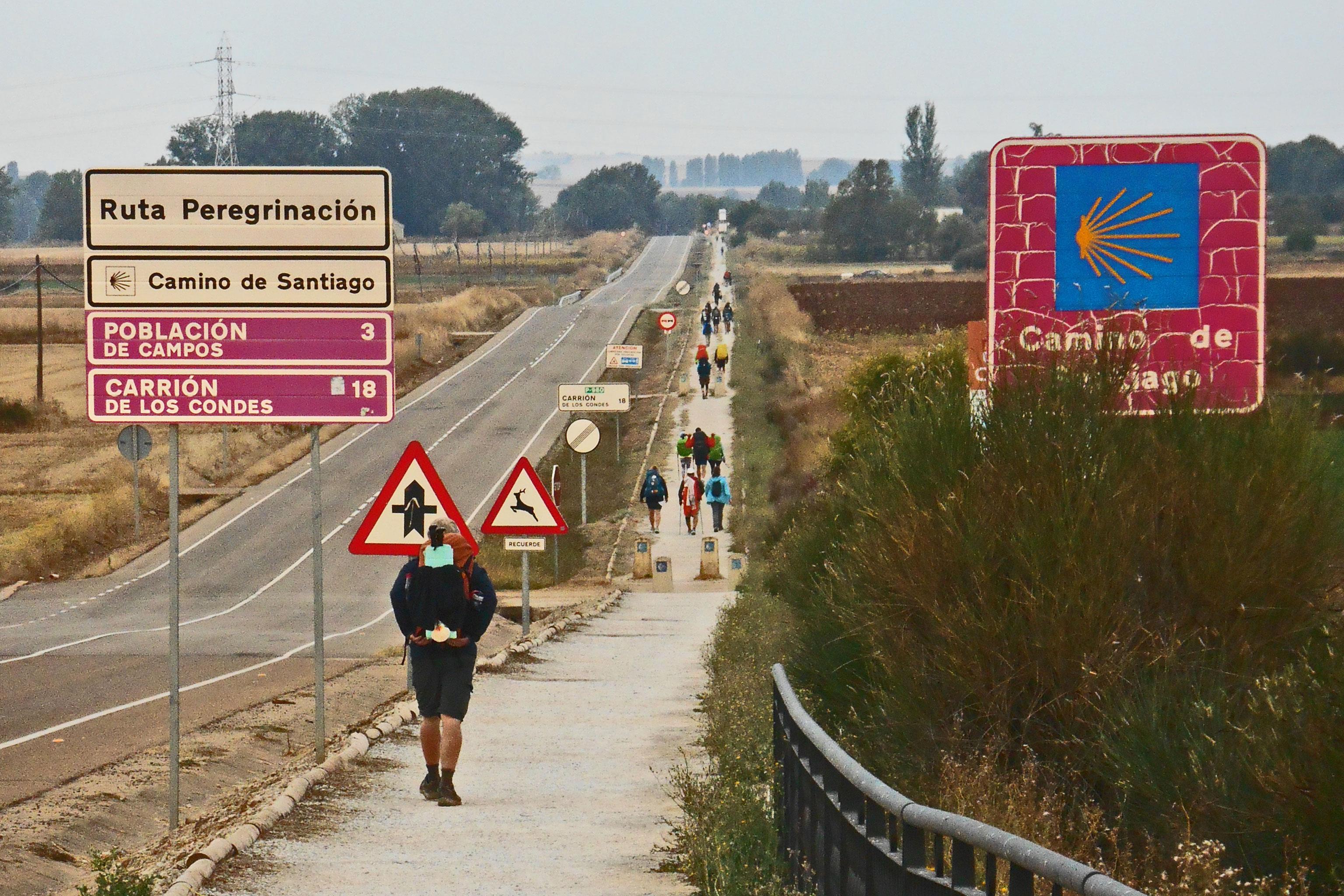 Wanderer Spanien Santiago de Compostela