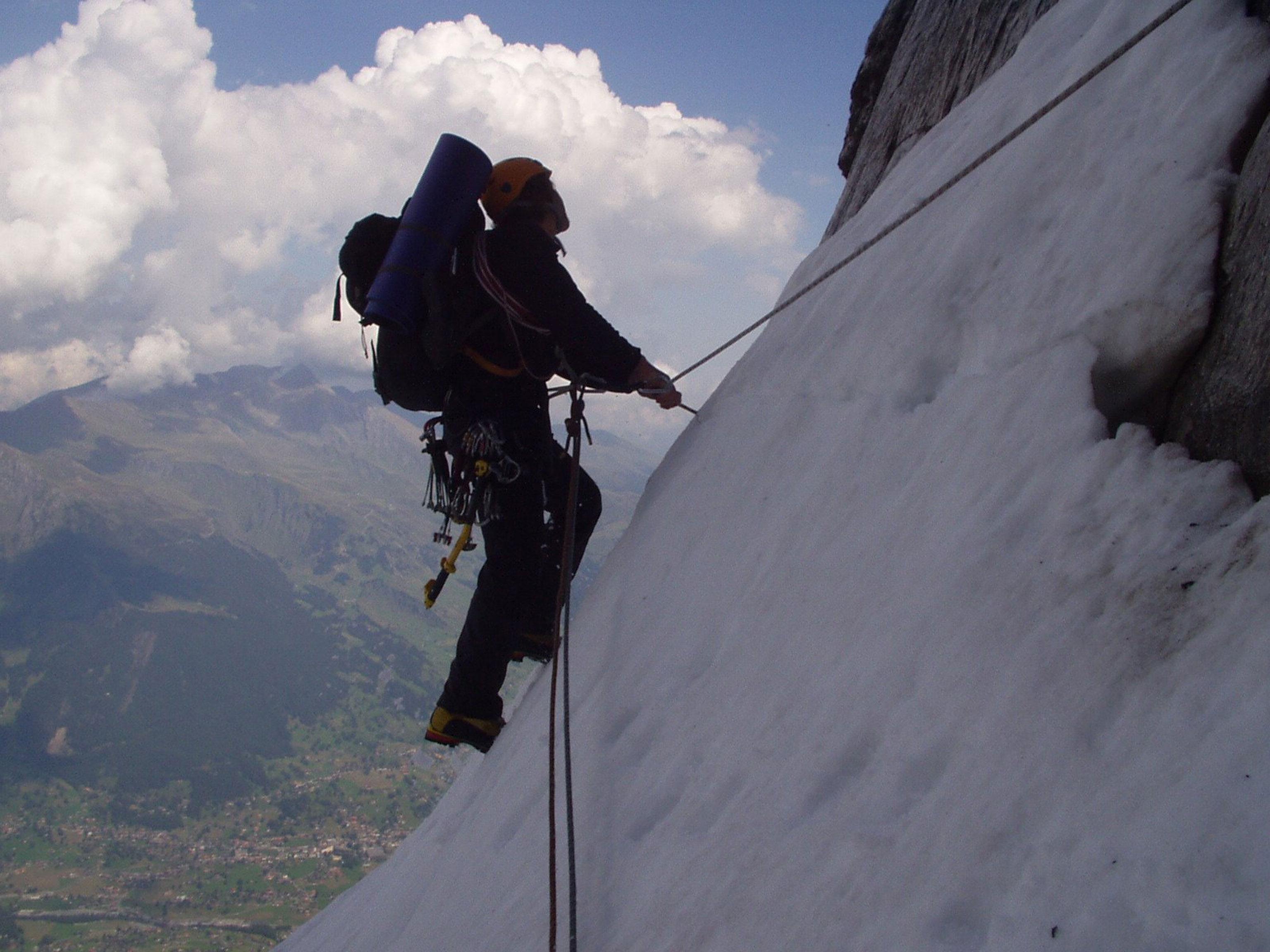 Eiger-Nordwand Kletterer