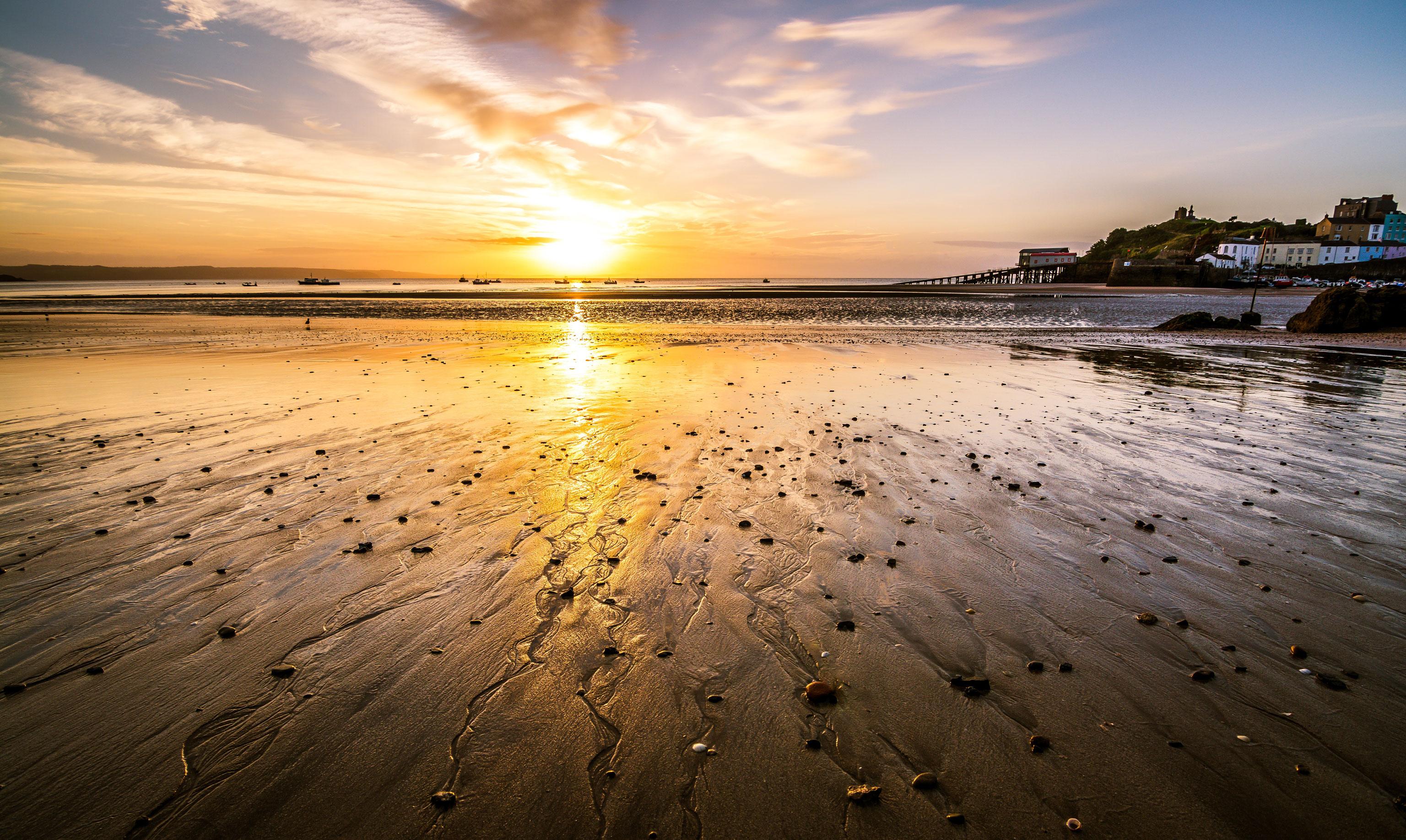 Pembrokeshire Coast Path Sonnenuntergang